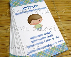 Calling Cards Kids - menino Arthur
