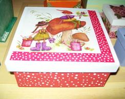 caixas mdf em pintura/d�coupage diversas