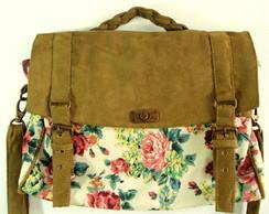 Bolsa Carteiro Floral Green