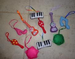 Instrumentinhos musicais em feltro