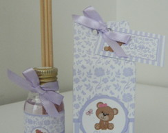 Kit Difusor e Caixinha-Ursa Floral Lil�s