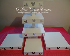 Kit Mickey e Minnie 4 pe�as PINTADO