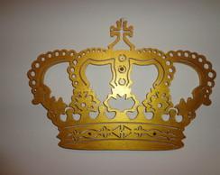 Coroa em mdf,Dourada