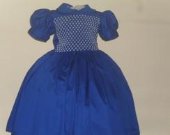 Vestido azul Casinha De Abelha