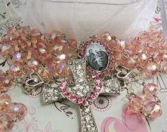 Ter�o para noivas cristal rosa