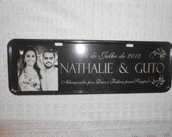 Placa Nathalie e Guto