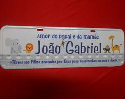 Placa Jo�o Gabriel