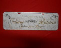 Placa Juliano e Patr�cia
