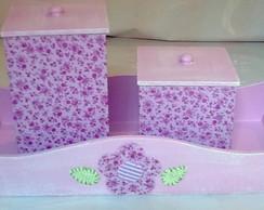 Kit Higiene com Flores de Tecido