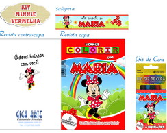 Kit Colorir Pocket C/ Giz De Cera Minnie