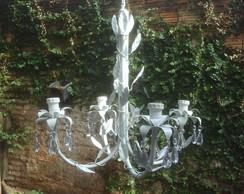 LUSTRE FOLHAS 4 LAMPADAS