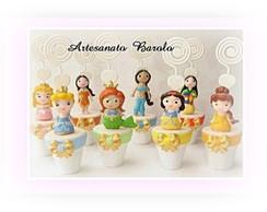 Porta Recados no Vaso Princesinhas Baby