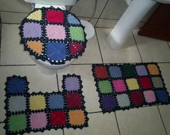 Jogo De Banheiro - Quadrados Coloridos