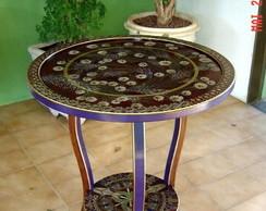 Mesa com tampo girat�rio