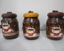 Potes De Vidro Caf�