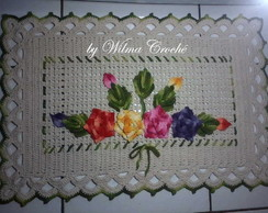 Tapete com flores multicoloridas