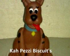 Topo de bolo scooby doo em biscuit