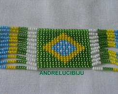pulseira do Brasil no tear