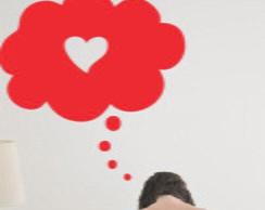 Adesivo De parede Pensando em amor