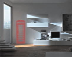 Adesivo De Parede cabine telefone