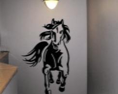 Adesivo Decora��o Parede cavalo  frente