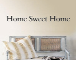 Adesivo Decora��o Parede Home Sweet Home