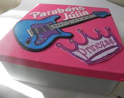 Caixa para Bolo Barbie Princesa Popstar