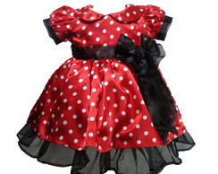 Vestido Minnie Vermelho Luxo 1026