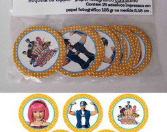 Lazy Town 25 Toppers,adesivos R�tulo