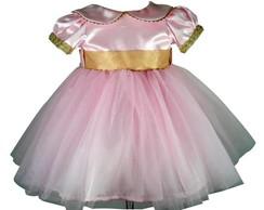 Vestido Princesa Rosa 1033