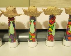 Tubete decorado - Junino ou fazendinha