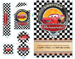 Kit Arte Carros Disney - Bandeirada