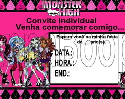 Convite individual Monster High