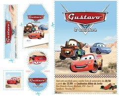 Kit Arte Carros Disney - Deserto