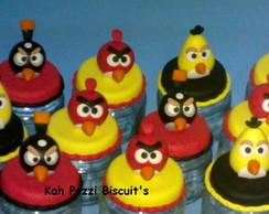Potinhos Angry Birds em biscuit