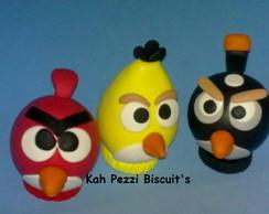 Topo de bolo Angry birds em biscuit