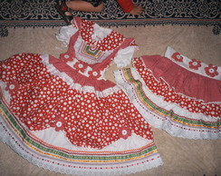 Vestido De Festa Junina e Saia p mam�e