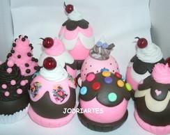 cupcakes em biscuit