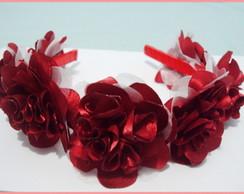 06 tiaras com flores no atacado
