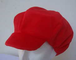 Boina de veludo vermelha