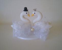 noivinhos cisne biscuit