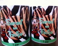 Caneca Personalizada Mickey Safari