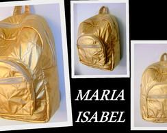 MOCHILA FEMININA DOURADA(FRETE GR�TIS)