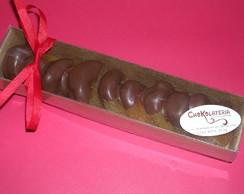 Damascos banhados em chocolate
