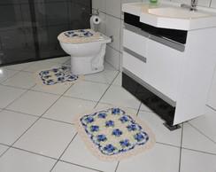 Jogo de Banheiro de Barbante com 3 pe�as