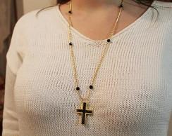 Colar Crucifixo Preto (CO 102)