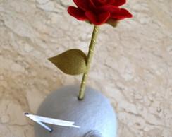 Planetinha com Rosa O Pequeno Pr�ncipe