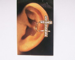 Ear Cuff Cross Strass