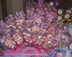Espetos Marshmallow Gato Cheshire