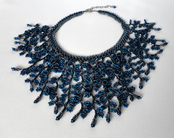 Maxi Colar Samambaia Azul Klein